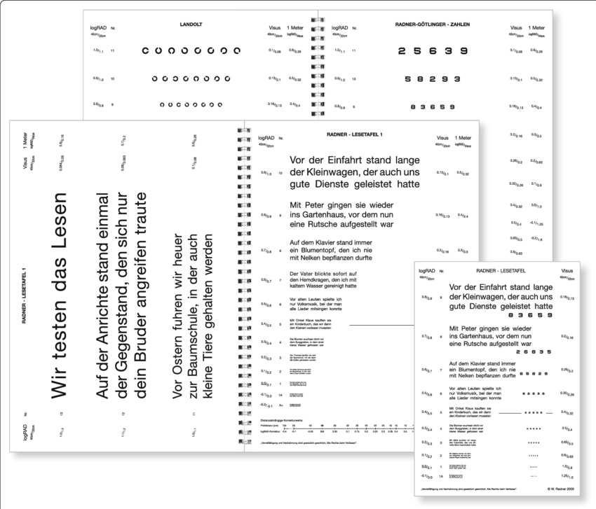 RADNER-Reading-Charts-as-exemplified-by-the-German-version-four-text-reading-charts-a