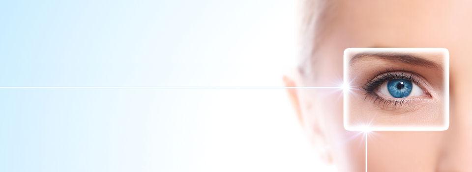 outlined blue eye